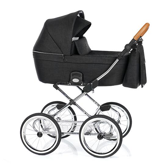 Детская коляска люлька Roan Coss Classic (Night Trip)/(Черный)