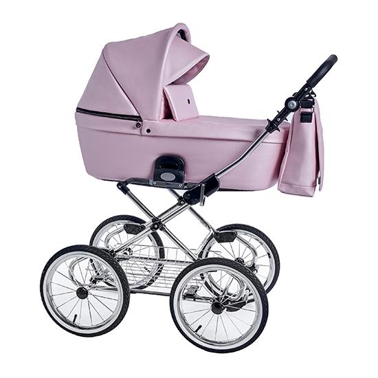 Детская коляска люлька Roan Coss Classic эко-кожа (Pink Pearl)/(Розовый)