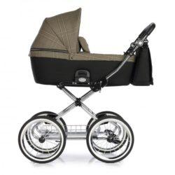 Детская коляска 2 в 1 Roan Coss Classic (Бежевый с принтом) Rock Check