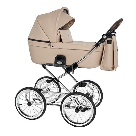 Детская коляска Roan Coss Classic 2 в 1 эко-кожа (Cappuccino)/(Капучино)