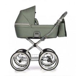 Детская коляска 2 в 1 Roan Coss Classic (Зеленый) Green Dots