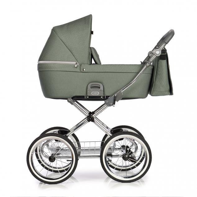 Детская коляска люлька Roan Coss Classic (Green Dots)/(Зеленый)