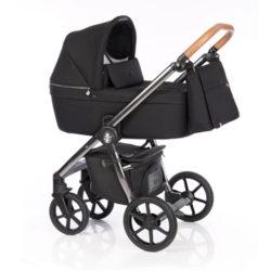 Детская коляска Roan Coss 3 в 1 (Black Chrome Line)/(Черный)