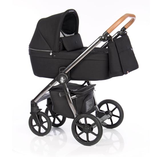 Детская коляска Roan Coss 2 в 1 New 2020 Black Chrome Line (Черный)