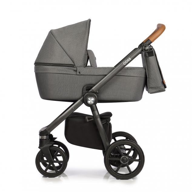 Детская коляска Roan Coss 3 в 1 New 2021 Black Dots (Серый)