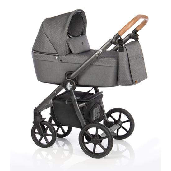Детская коляска Roan Coss 2 в 1 New 2021 Black Dots (Серый)