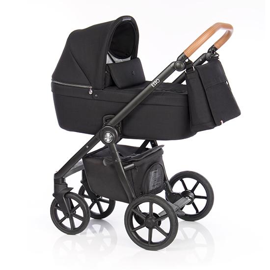 Детская коляска Roan Coss 3 в 1 (Black)/(Черный)