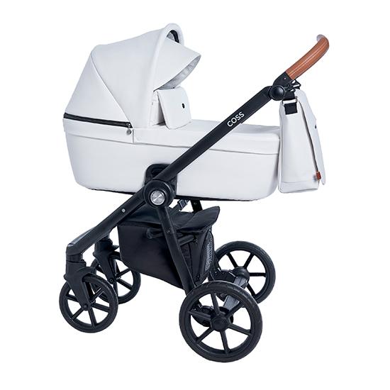 Детская коляска Roan Coss 3 в 1 эко-кожа (Caramel White)/(Белый)