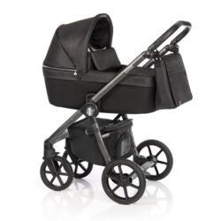 Детская коляска Roan Coss 3 в 1 (Dark Glow)/(Черно-серый)