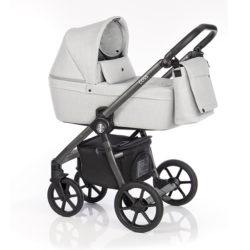 Детская коляска Roan Coss 3 в 1 (Grey)/(Бело-серый)
