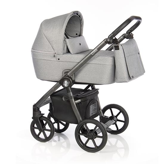 Детская коляска Roan Coss 3 в 1 (Grey Dots)/(Светло-серый)