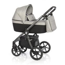 Детская коляска Roan Coss 3 в 1 (Grey Glow)/(Серый/Черный)