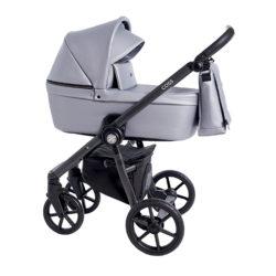Детская коляска Roan Coss 3 в 1 эко-кожа (Grey Pearl)/(Серебристый)