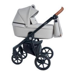 Детская коляска Roan Coss 3 в 1 эко-кожа (Island Stone)/(Темно-серый)