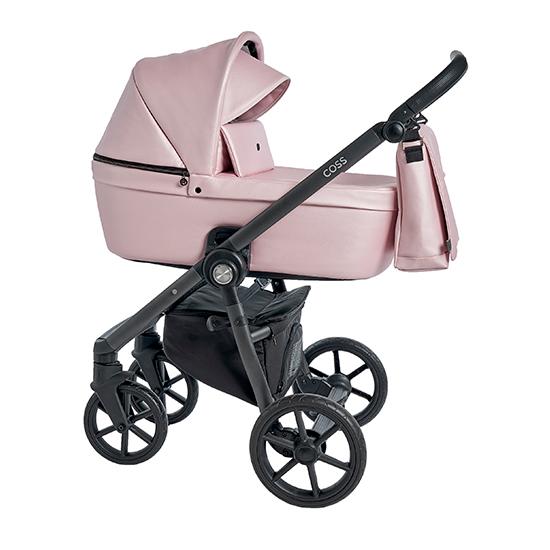Детская коляска Roan Coss 2 в 1 эко-кожа (Pink Pearl)/(Розовый)