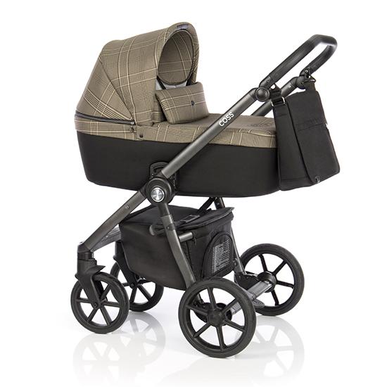 Детская коляска Roan Coss 2 в 1 New 2020 Rock Check (Бежевый с принтом)