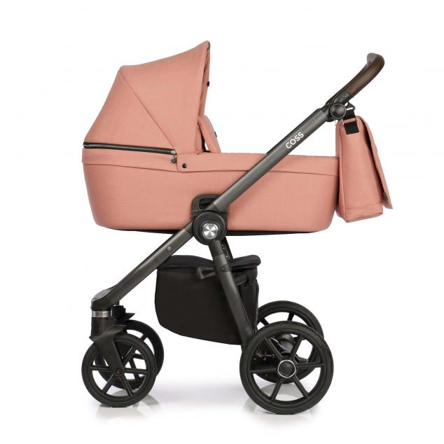 Детская коляска Roan Coss 2 в 1 эко-кожа (Rosy)/(Светло-розовый)
