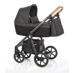 Детская коляска Roan Coss 3 в 1 (Strong Check)/(Черный) в квадратик