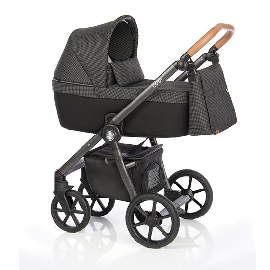 Детская коляска Roan Coss 2 в 1 (Strong Check)/(Черный) в квадратик
