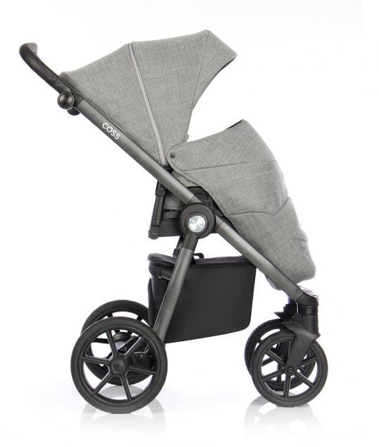 Детская коляска Roan Coss 3 в 1 New 2021 Titanium (Серый)
