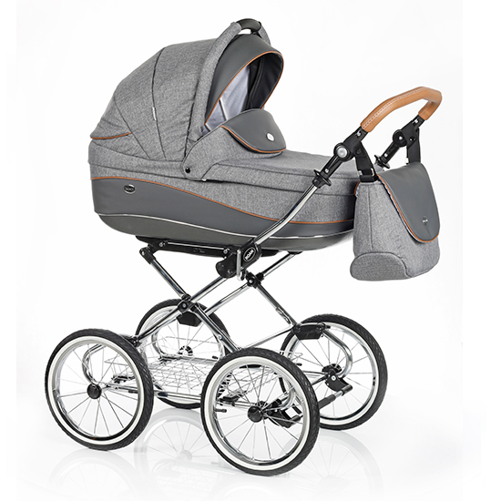 Детская коляска 3 в 1 Roan Emma (Серый/Коричневый)