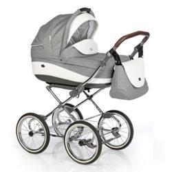 Детская коляска 3 в 1 Roan Emma (Светло-серый/белый)