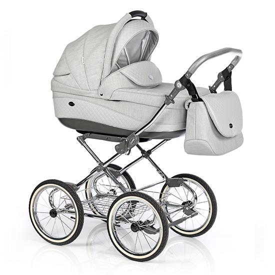 Детская коляска 3 в 1 Roan Emma E-72 (Серый/Серая кожа)