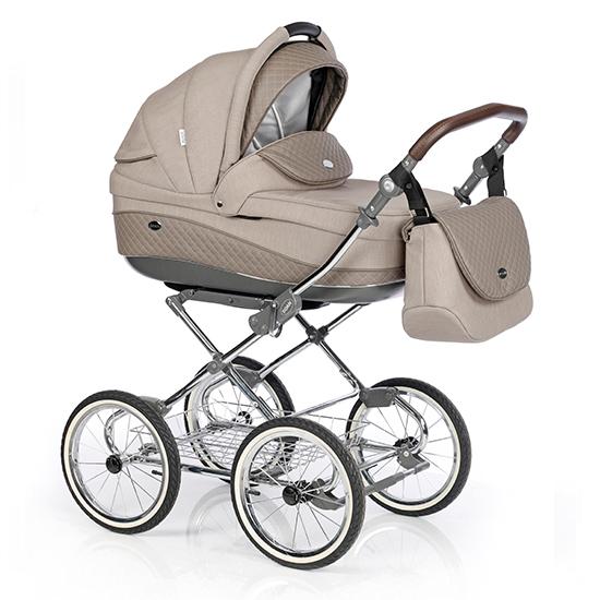 Детская коляска 3 в 1 Roan Emma E-73 (Бежевый-Бежевая кожа)