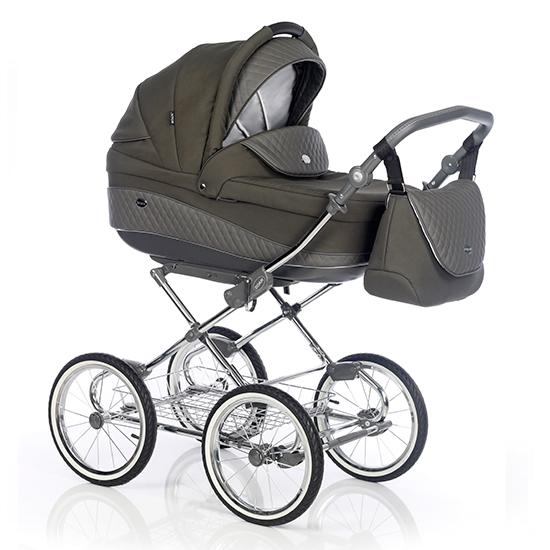 Детская коляска Roan Emma 3 в 1 (Хаки) / хромированная рама
