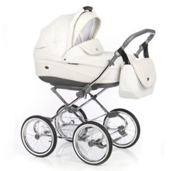 Детская коляска 3 в 1 Roan Emma (Белый/Светло-бежевый)
