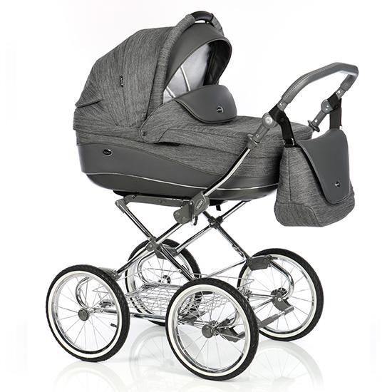 Детская коляска 3 в 1 Roan Emma Е-81 (Темный Серый)