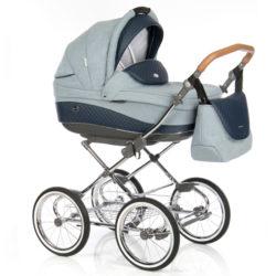 Детская коляска 3 в 1 Roan Emma (Голубой/Синий)