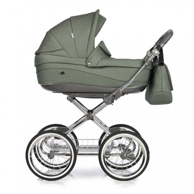 Детская коляска Roan Emma 3 в 1 (Зеленый) / хромированная рама