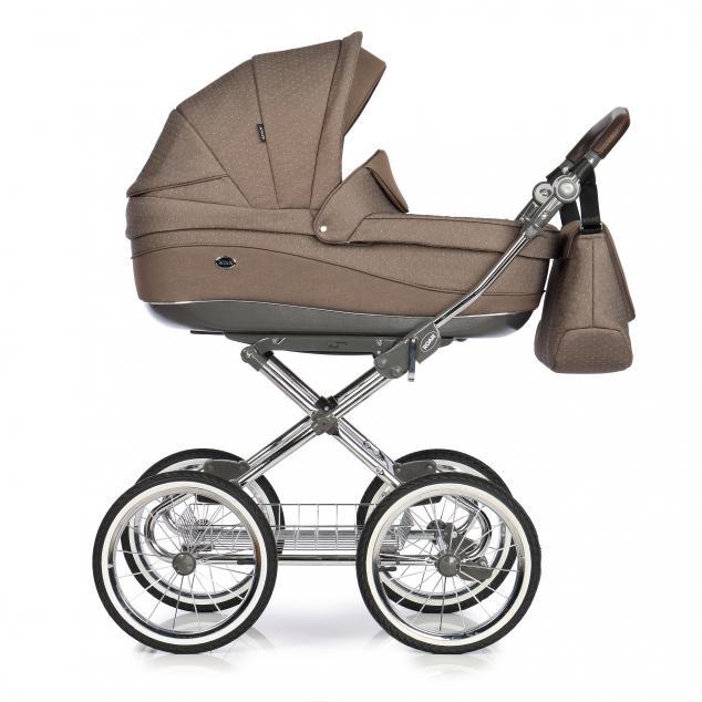 Детская коляска Roan Emma 3 в 1 (Коричневый) / хромированная рама