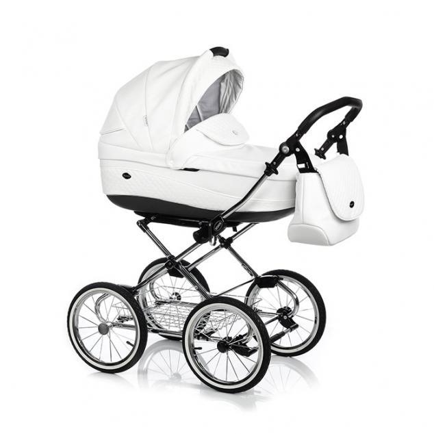 Детская коляска Roan Emma 3 в 1 (Белый) / хромированная рама