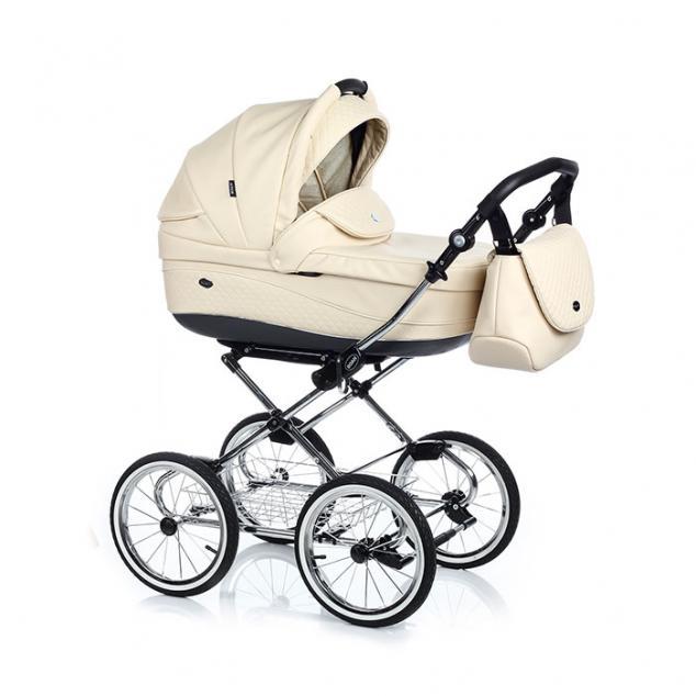 Детская коляска 3 в 1 Roan Emma E-18 (Светлый Бежевый)