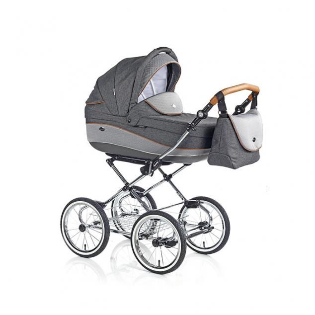 Детская коляска 3 в 1 Roan Emma E-60 (Серый/Светло-серый)