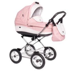 Детская коляска 3 в 1 Roan Emma (Розовый/Белый)
