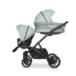 Детская коляска для двойни Riko Team 2 в 1 2020 NEW (Бирюзовый)