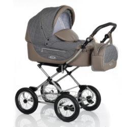 Детская коляска Roan Kortina 2 в 1 (Night Black A)/(Серый/Коричневый)