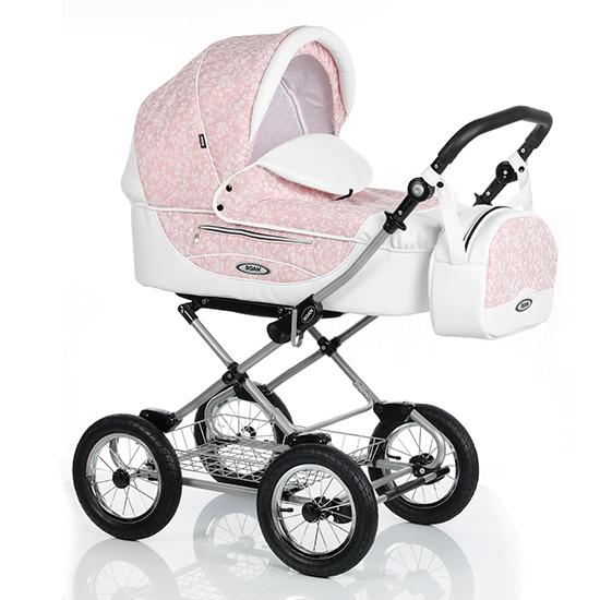 Детская коляска Roan Kortina 2 в 1 (Розовый/Белый)