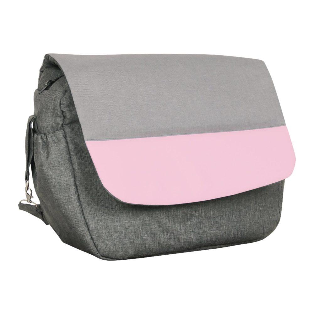 Коляска Alis ALVARO 2в1 (Темно-серый, серый, розовая кожа)