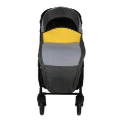 Коляска Alis ALVARO 3в1 F (Темно-серый, светло серый, жёлтая кожа)