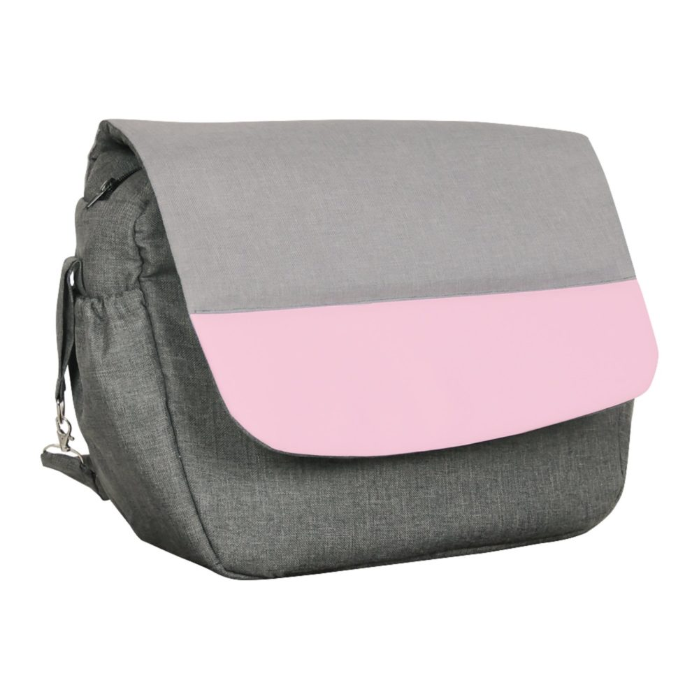 Коляска Alis ALVARO 3в1 F (Темно-серый, светло серый, розовая кожа)