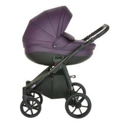 Коляска Tutis Nanni 2 в 1 New 2021 №097 (Фиолетовая кожа)