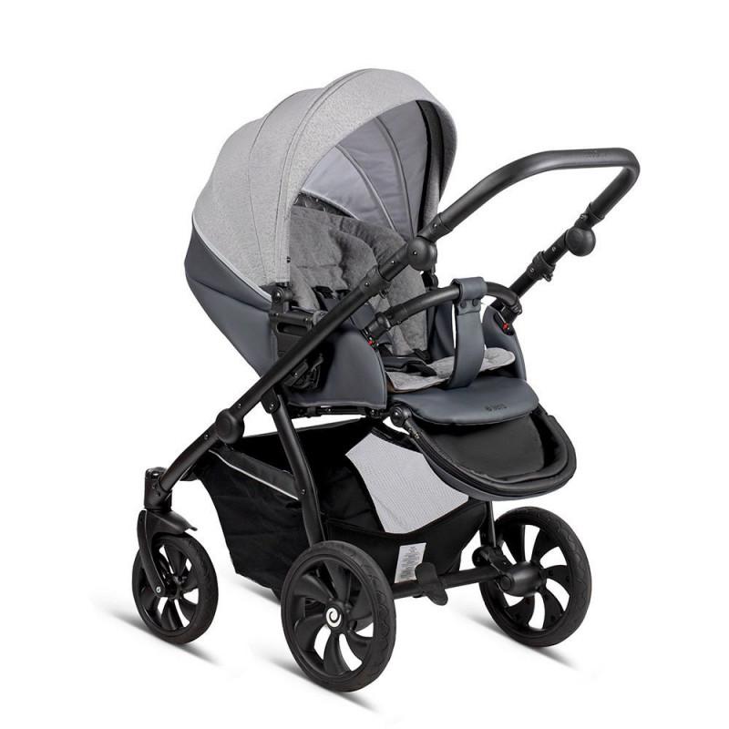 Детская коляска Tutis Aero 2 в 1 New 2019 №140 Reflective (Серый) кожа