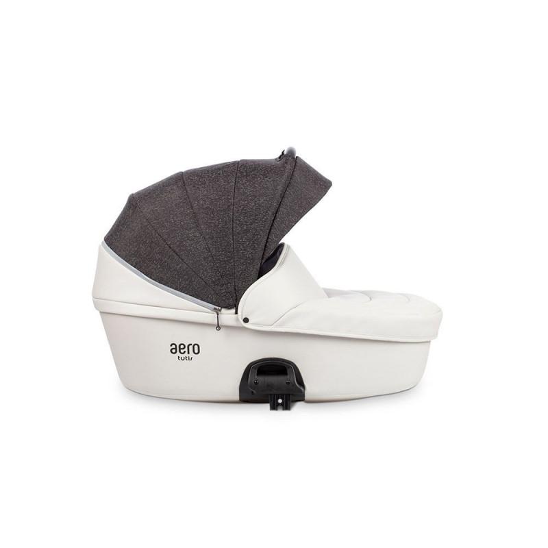 Детская коляска Tutis Aero 2 в 1 New 2019 №140 Reflective (Белый) кожа