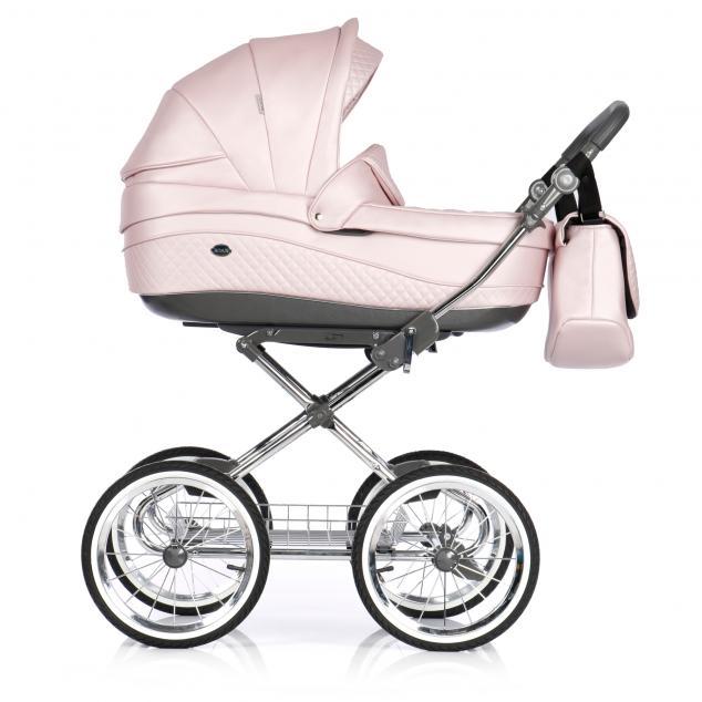 Детская коляска 3 в 1 Roan Emma E-92 (Розовая кожа)