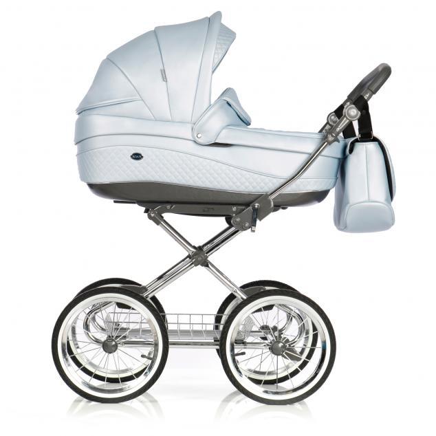Детская коляска 3 в 1 Roan Emma E-93 (Голубая кожа)