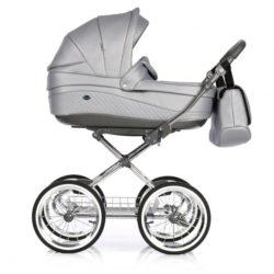 Детская коляска 3 в 1 Roan Emma E-94 (Серая кожа)